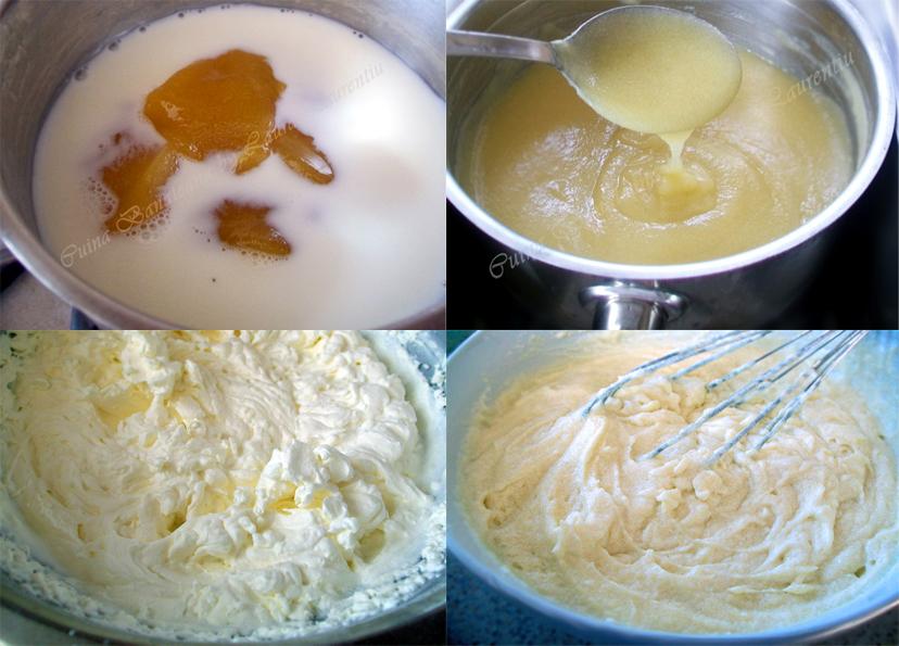 prajitura rulada cu miere si nuci crema