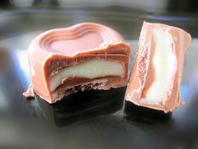praline de ciocolata sectiune