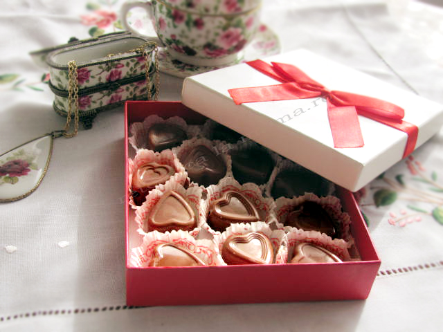 Praline de ciocolata - Would you be my valentine?
