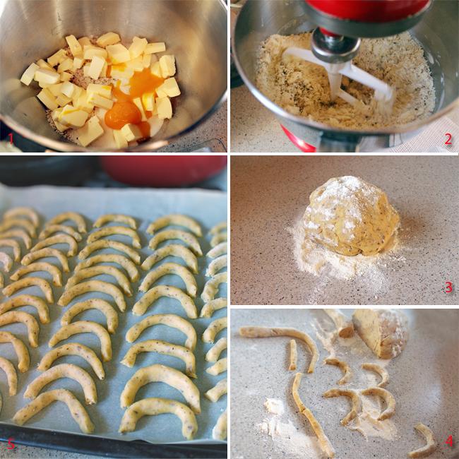 preparare cornulete cu vanilie