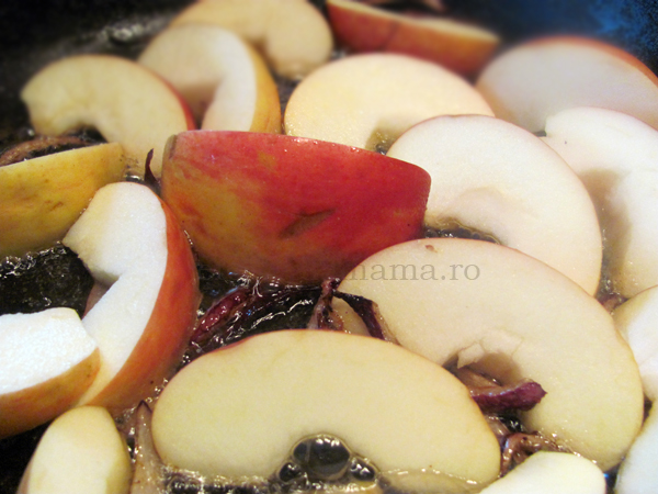 rata fripta cu mere caramelizate 6