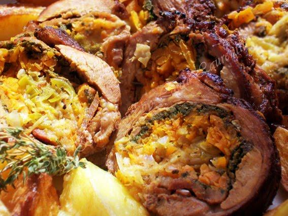 rulada de carne cu legume 16