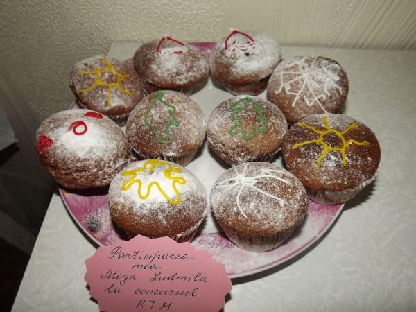 Muffins cu crema de branza si visine by Ludmila