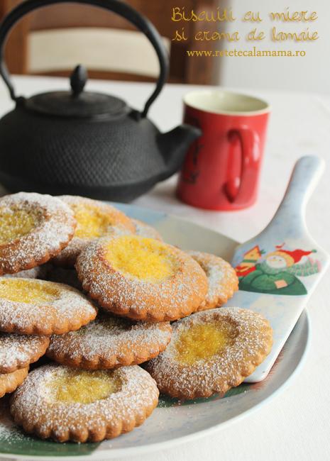 biscuiti cu miere si crema de lamaie