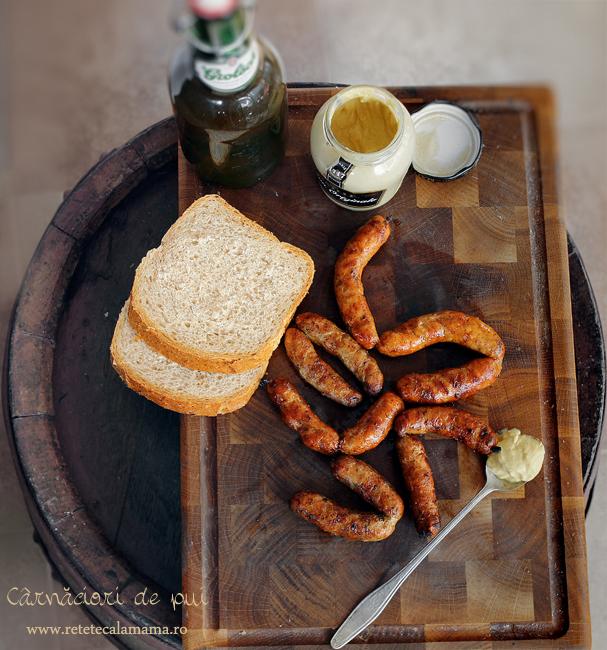 carnaciori proaspeti din carne de pui