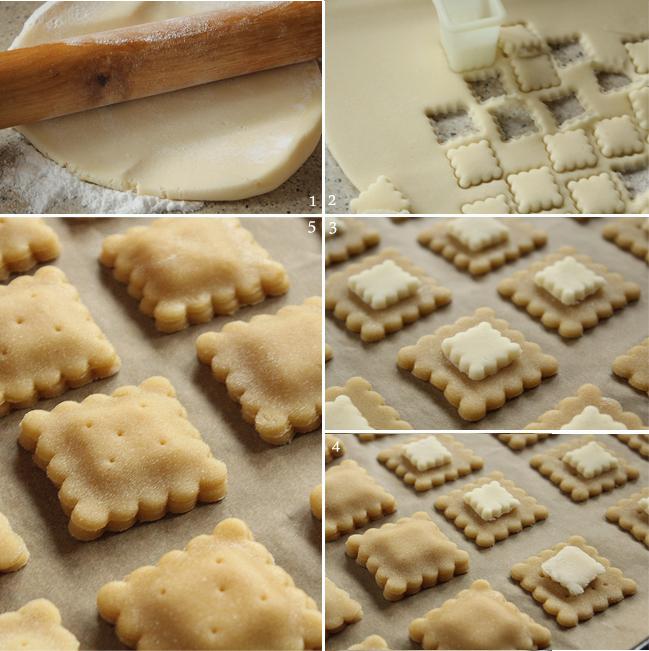 preparare 2, biscuiti cu miere si martipan