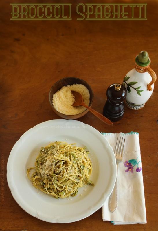 spaghetti cu broccoli, reteta de spaghetti cu broccoli
