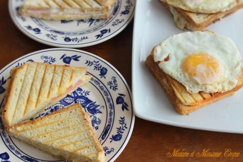 Madame et Monsieur Croque, doua celebre sandvisuri frantuzesti