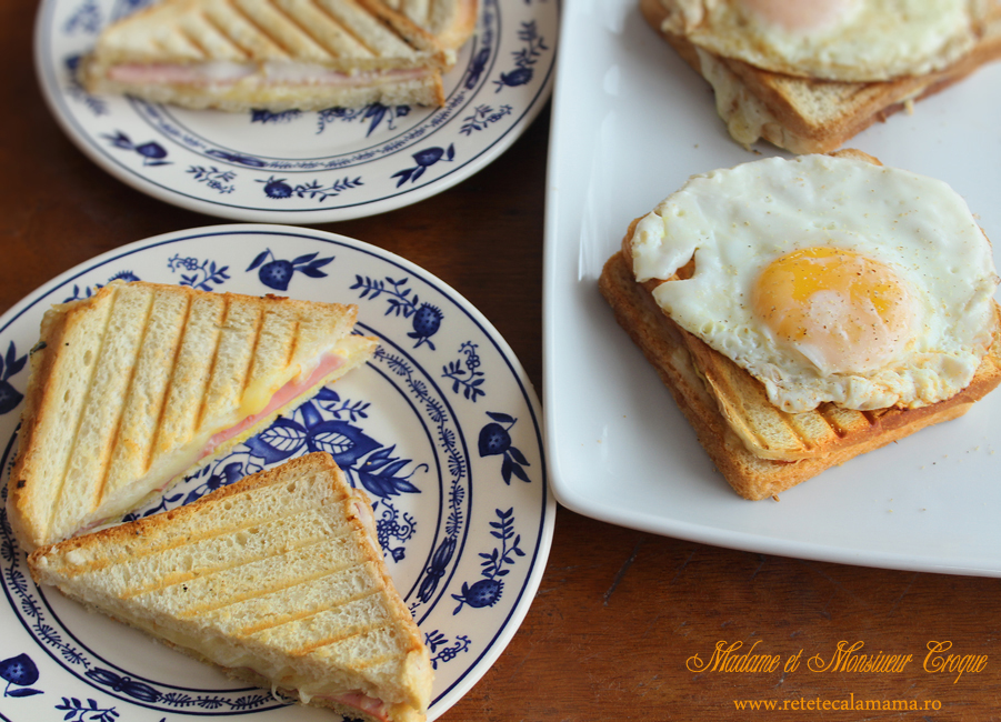 mic dejun cu croque monsieur si croque madame