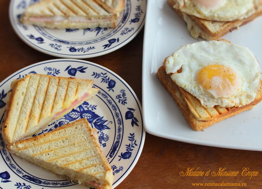 mic dejun cu croque monsieur si croque madame