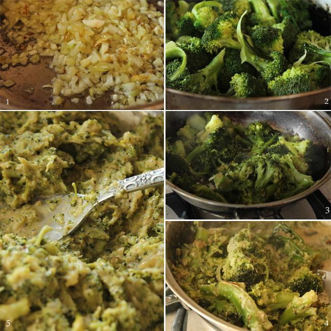 preparare sos broccoli pentru spaghetti