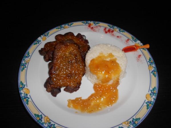 Friptura de porc cu glazura aromata by DanaP.