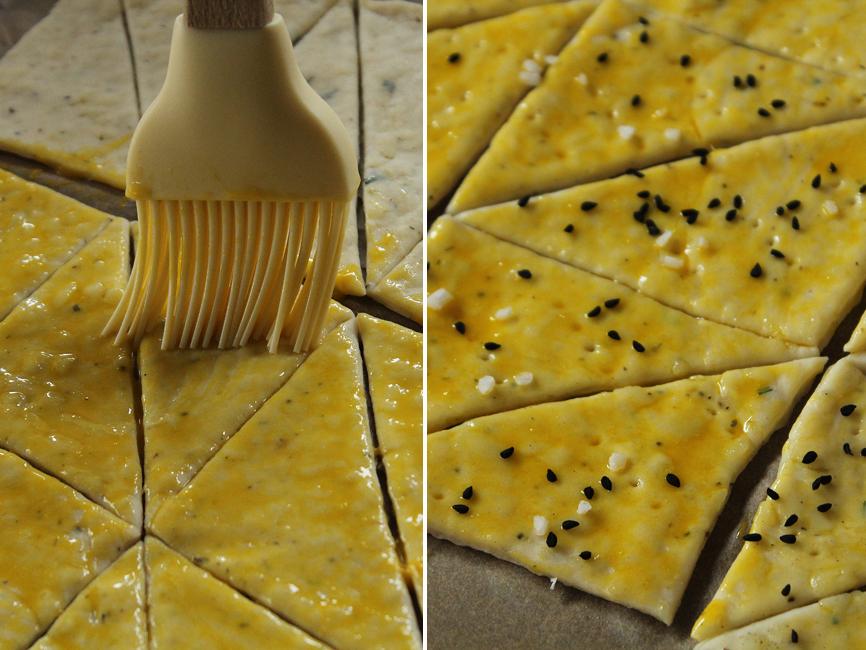 preparare biscuiti cu bere si cascaval 4