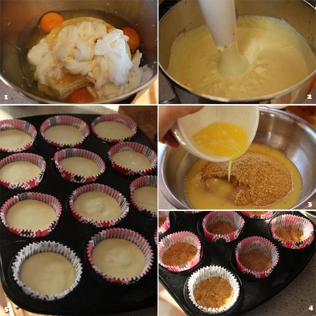 preparare reteta mini cheesecake