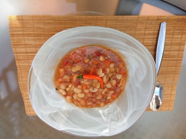 Ciorba de fasole cu tarhon si afumatura by Ancarlos12