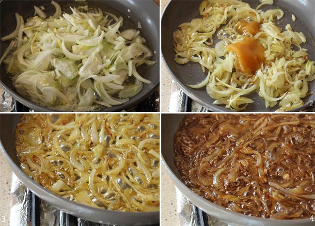 preparare ceapa caramelizata