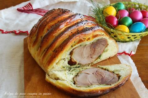 Pulpa de porc coapta in paine