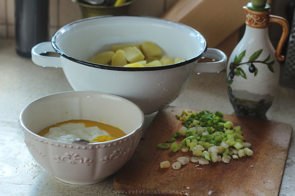 salata de cartofi preparare 1