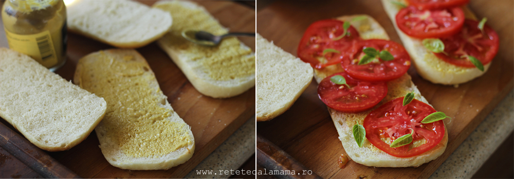 preparare sandwich cu vita