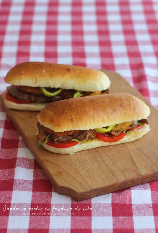 sandwich exotic cu friptura de vita 1