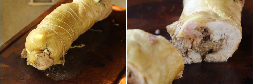 ciulama de pui cu ciuperci preparare 3