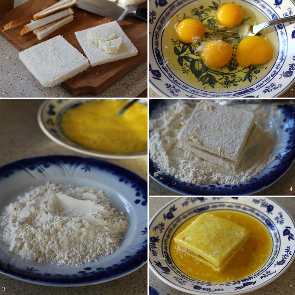 mozzarella in carrozza preparare 1