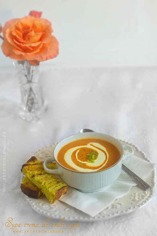 supa crema de ardei copti 1