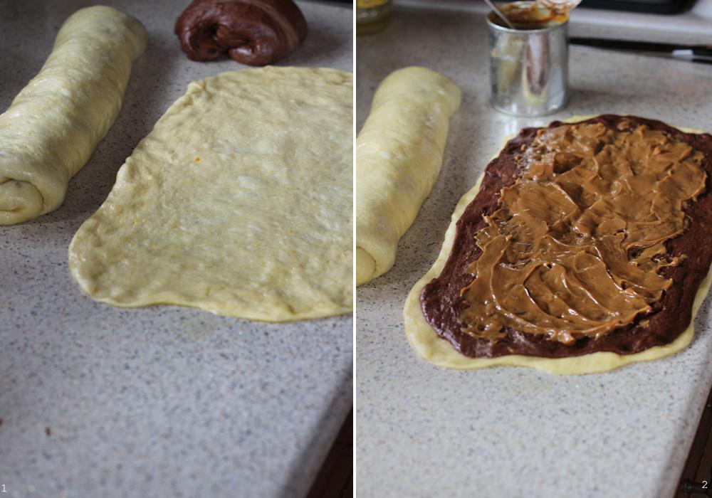 cozonac cu crema caramel preparare 2