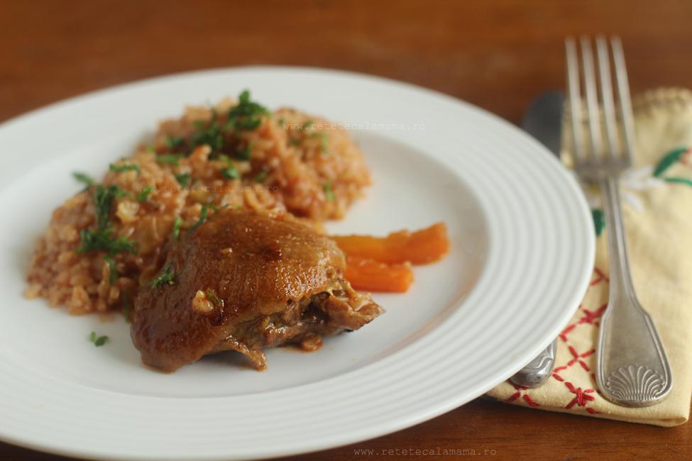 pilaf de orez cu carne de pui 2