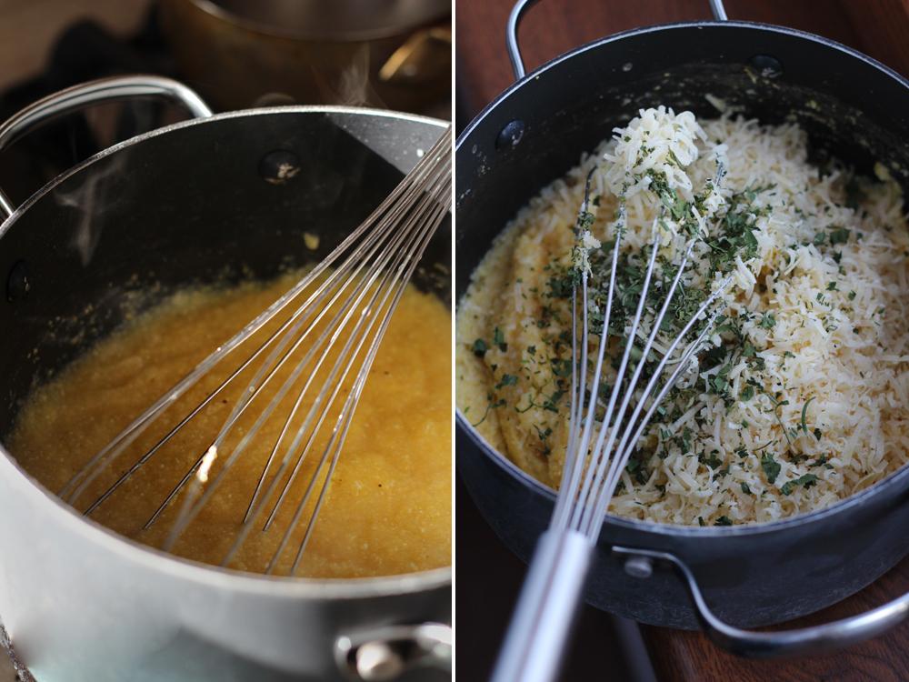 preparare chipsuri de mamaliga cu sos de branza 1