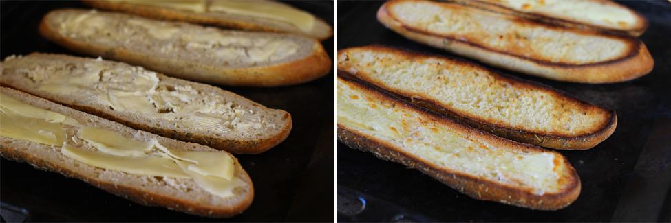 preparare sandwich cu sunca si ou 1