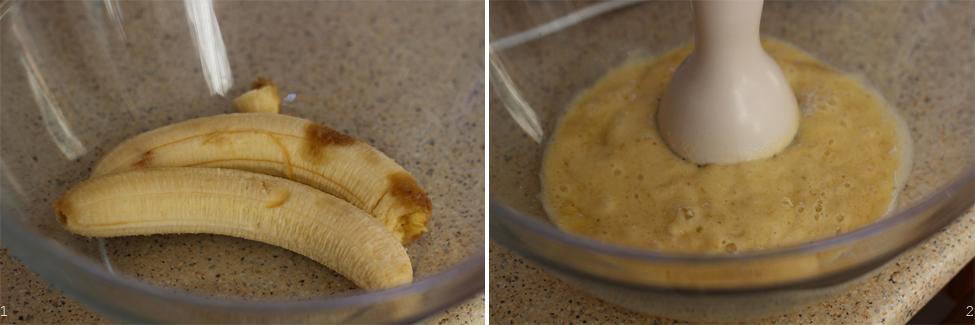 preparare waffe banane 1