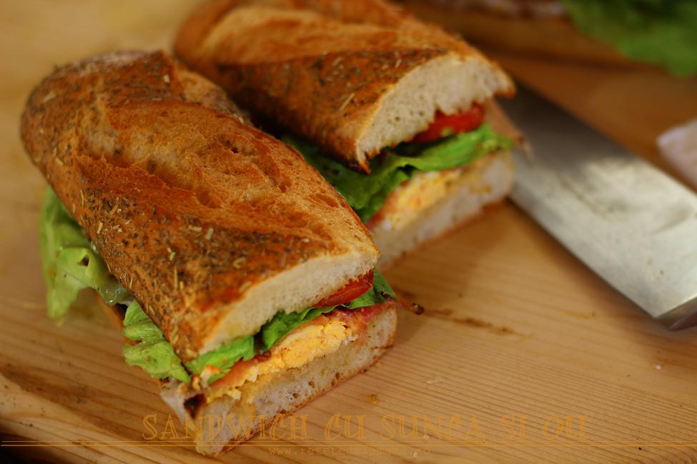 sandwich cu sunca si ou 2