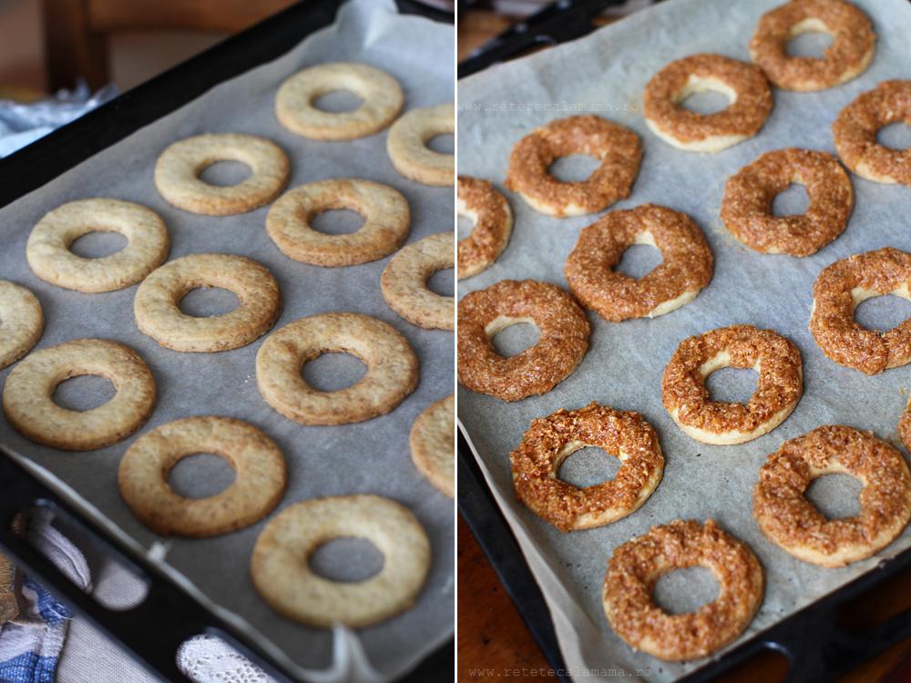 preparare 4 biscuiti cu cocos si caramel