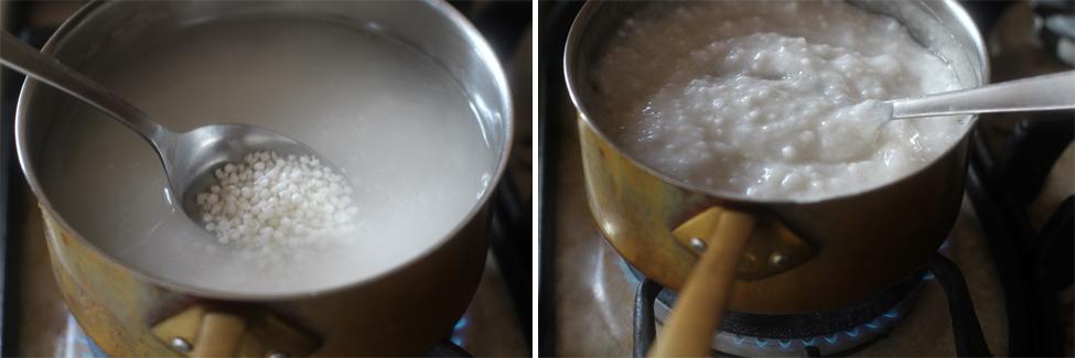 preparare budinca de tapioca 2
