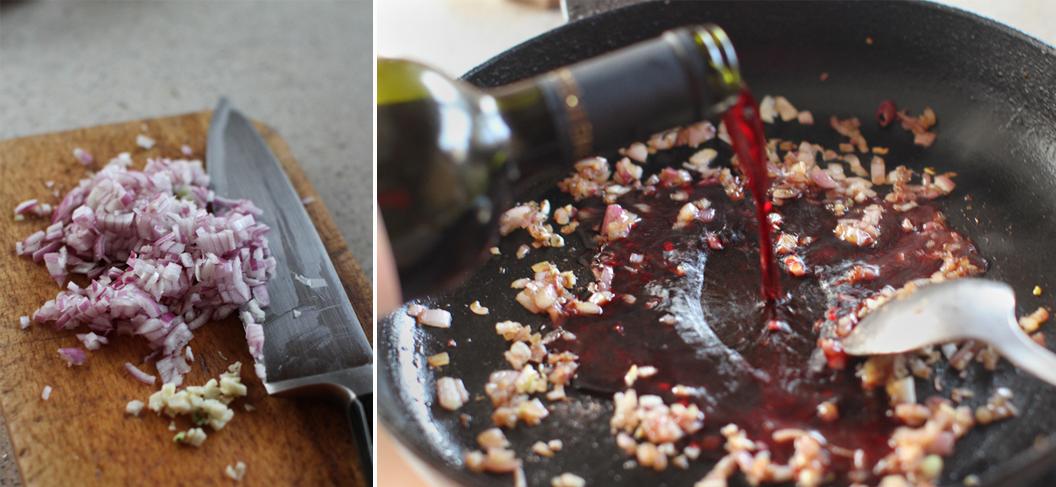 preparare sos de vin rosu piept de rata