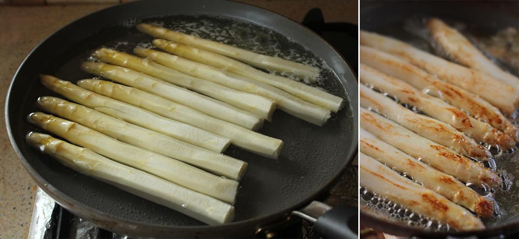 preparare sparanghel alb cu piept de rata
