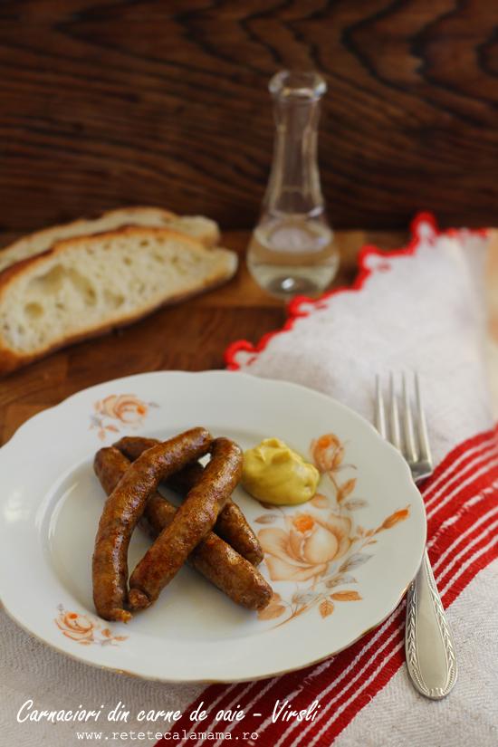 Virsli - carnaciori traditionali din carne de oaie