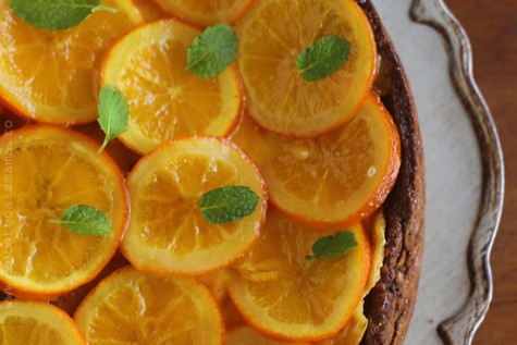 Prajitura cu urda si portocale