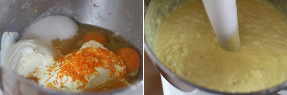 preparare prajitura cu urda si portocale 3