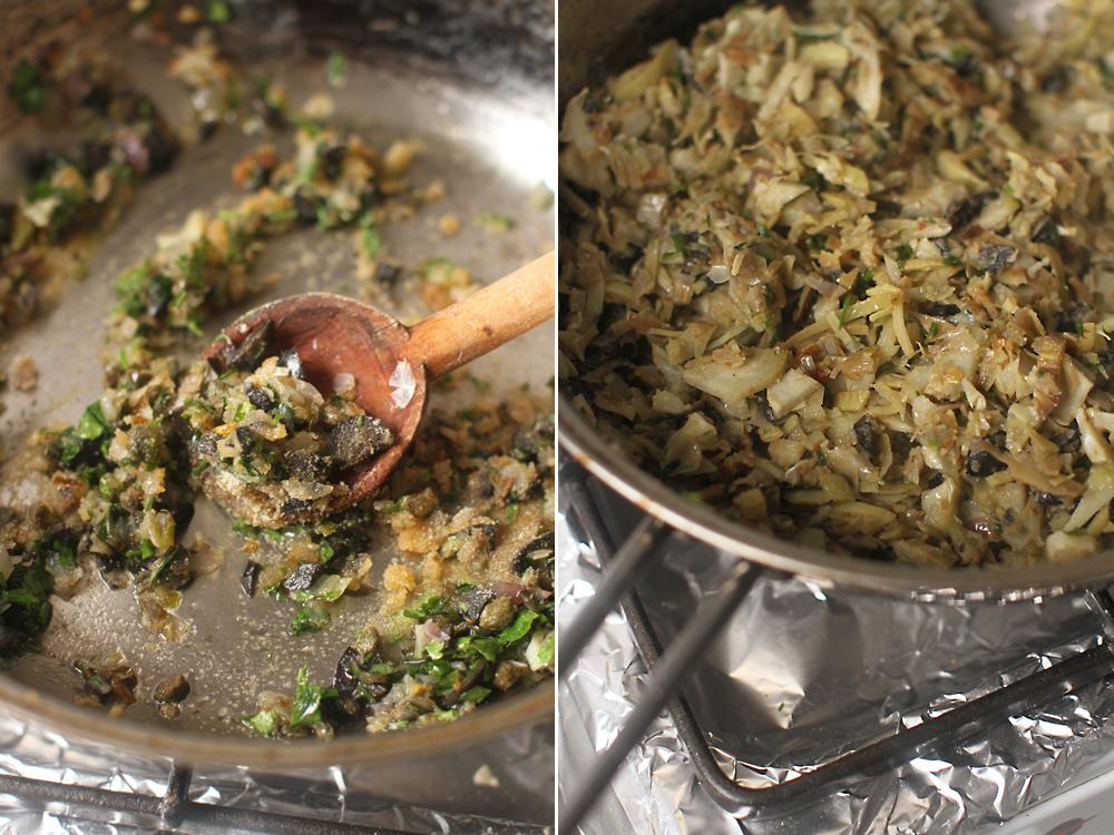 preparare sos cu anghinare pentru paste