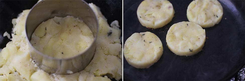 potato patties - english breakfast