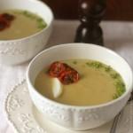 Supa crema de vinete cu rosii coapte