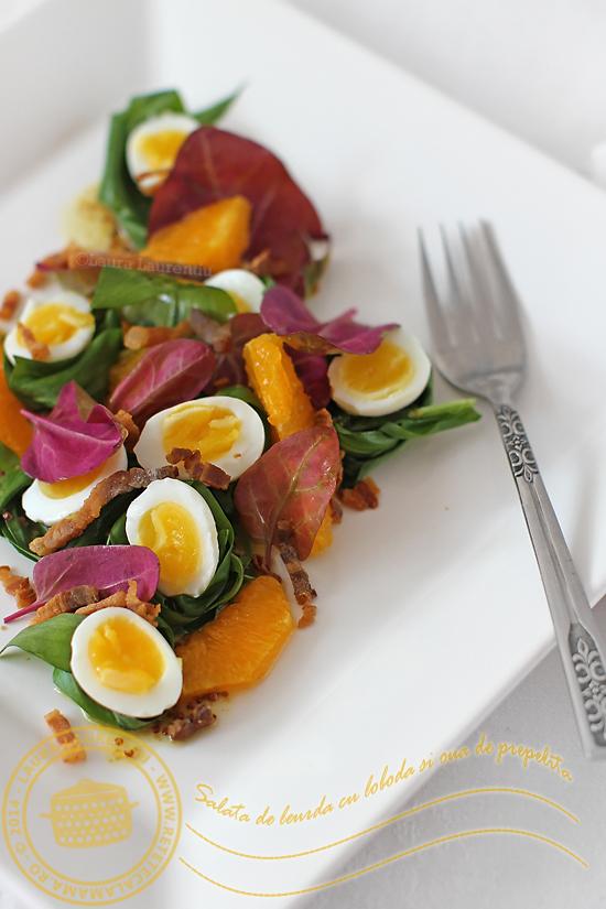 salata de leurda cu oua de prepelita si loboda-1