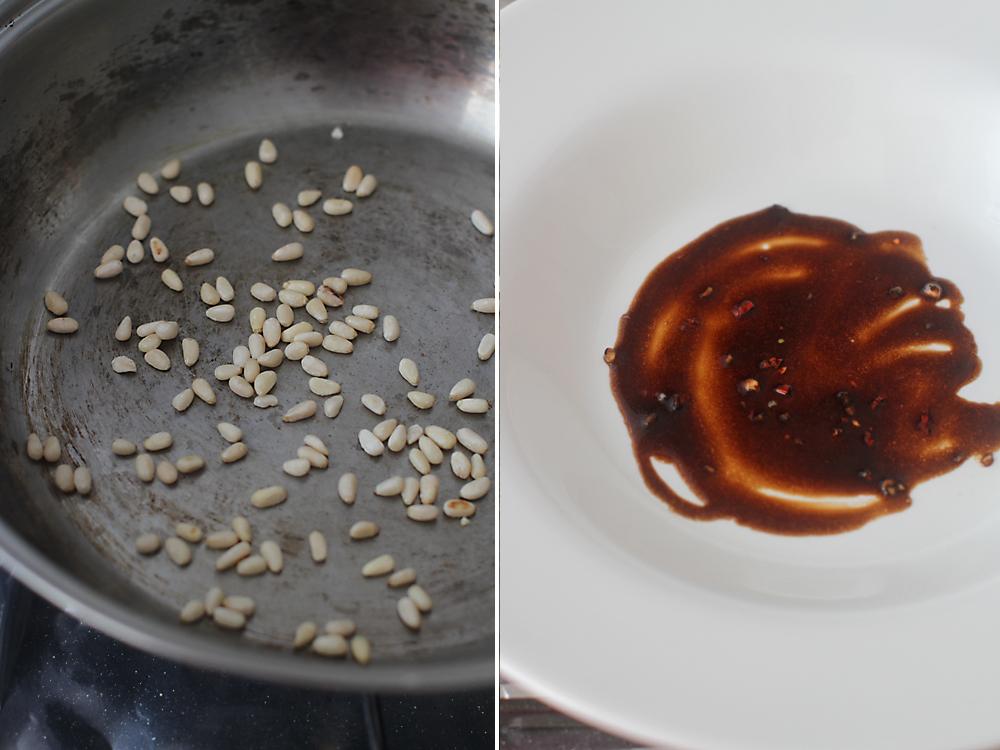 salata de spanac cu prosciutto si pepene preparare 2