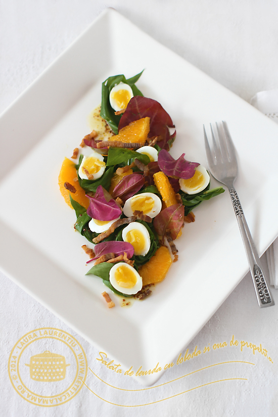 salata leurda cu loboda si oua de prepelita-2