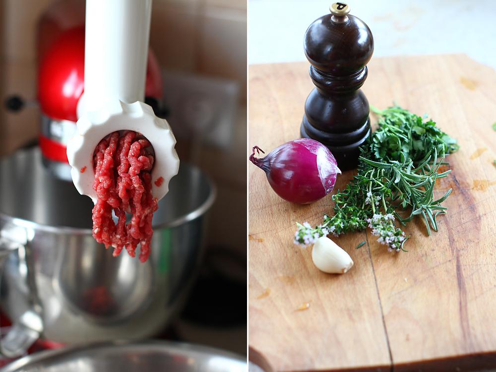 pasta de hamburger preparare 1