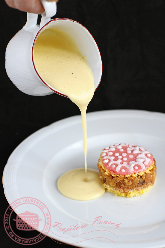 prajitura punsch cu sos de vanilie 1