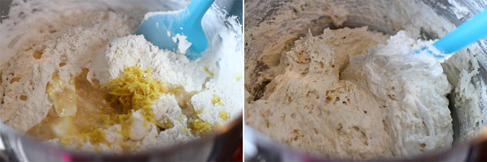 preparare muffins cu pere si capsuni 2