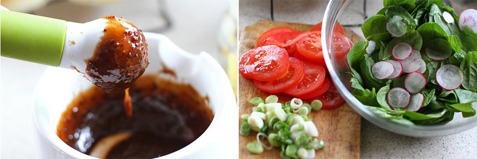 salata si dressing pentru hamburger